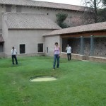 Progetto di architettura Ortus Artis - Stylianos fontana sera gruppo